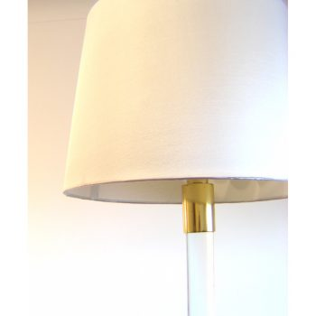 Hansen, floor, lamp,new york, glass, brass, 1970s