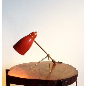 Jean boris lacroix, tripod, lamp, light, disderot, france,1950s, dekalux