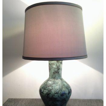 Jacques Blin, ceramic, lamp, light, 1950s, french