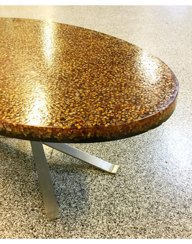 pierre giraudon resin oval 1970s coffee table  (2)