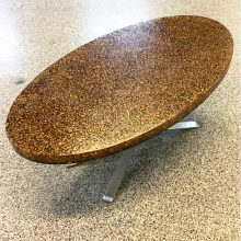 pierre giraudon resin oval 1970s coffee table  (4)