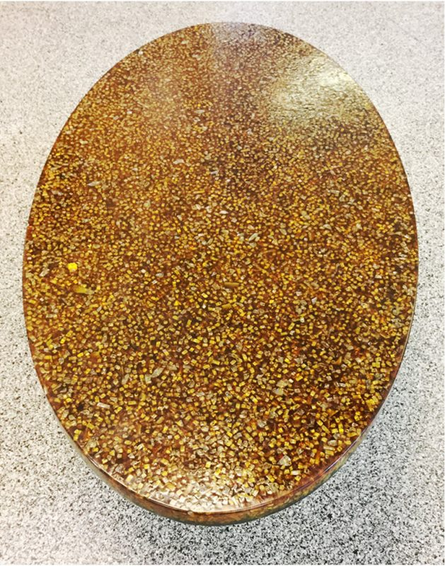 pierre giraudon resin oval 1970s coffee table  (8)