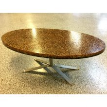 pierre giraudon resin oval 1970s coffee table  (9)