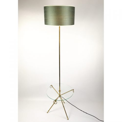 1950s brass french table floor lamp (1)
