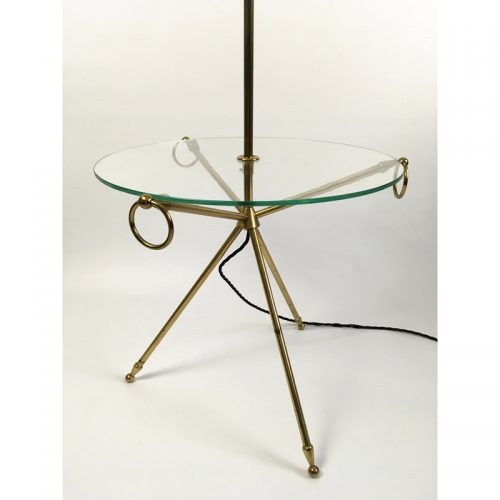 1950s brass french table floor lamp (3)