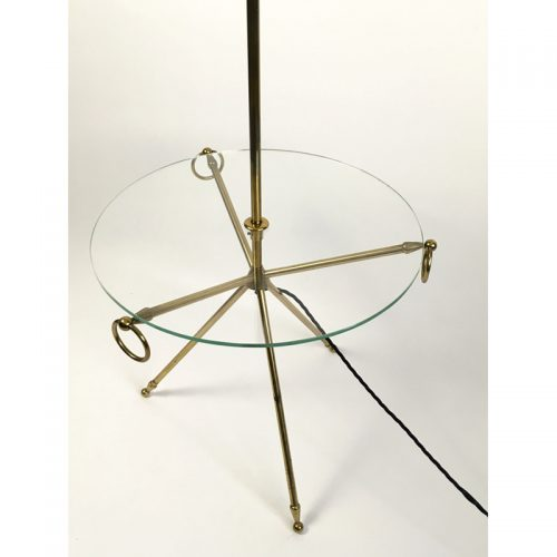 1950s brass french table floor lamp (6)