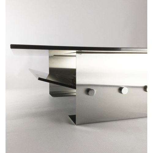 1970s stainless steel coffee table and magazine rack (19)