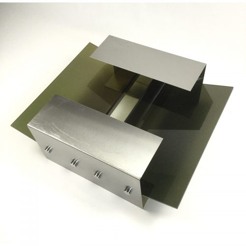 1970s stainless steel coffee table and magazine rack (23)