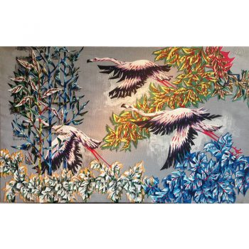 Tapestry-r debieve-1950s-print-serigraphy-linen