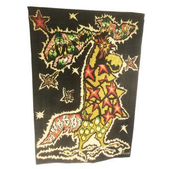 jean lurçat-tapestry-la fanfare-1950s-french-corot