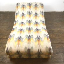 lounge chair longue chaise missoni fabric (1)