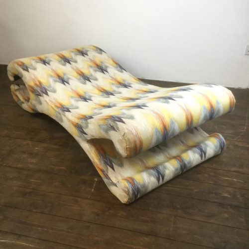 lounge chair longue chaise missoni fabric (10)