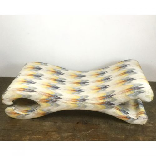 lounge chair longue chaise missoni fabric (4)