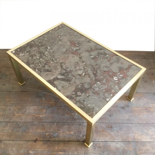 fossil and brass coffee table (2)