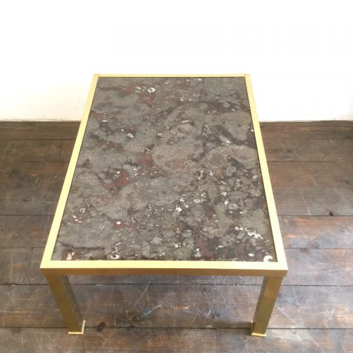 fossil and brass coffee table (7)