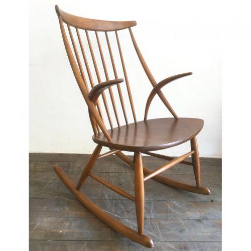 illum wikkelsø danish rocking chair gyngestol 1958 (4)