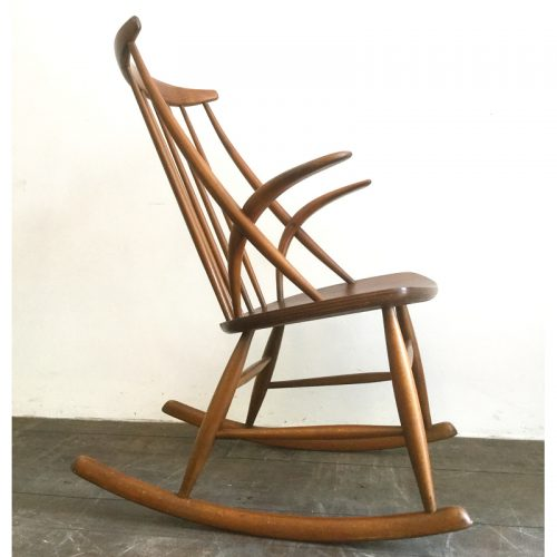 illum wikkelsø danish rocking chair gyngestol 1958 (5)