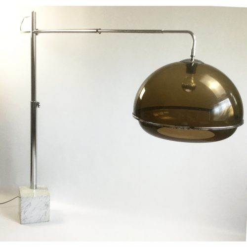 1970s belgium chrome and marble arc lamp (14)
