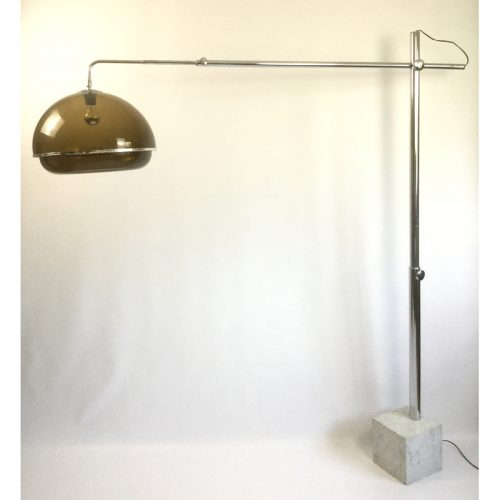 1970s belgium chrome and marble arc lamp (4)