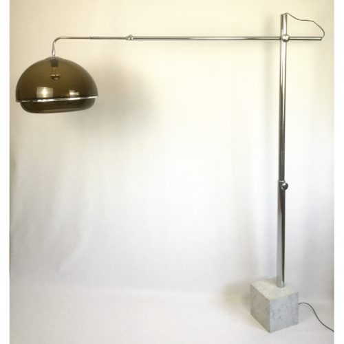 1970s belgium chrome and marble arc lamp (5)