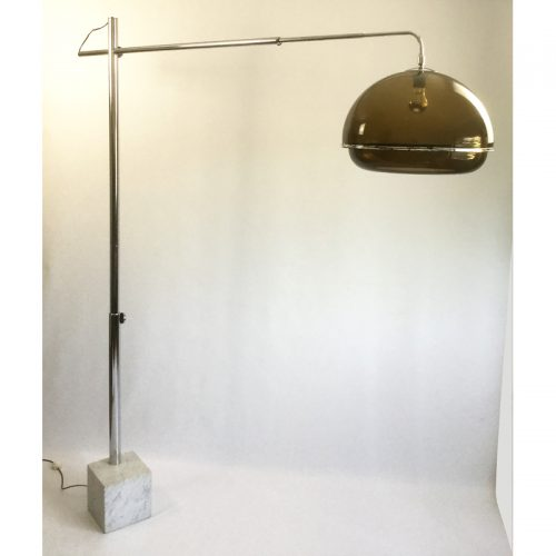 1970s belgium chrome and marble arc lamp (7)