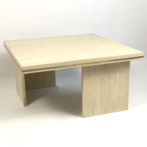 1970s travertine coffee table style willy rizzo (4)