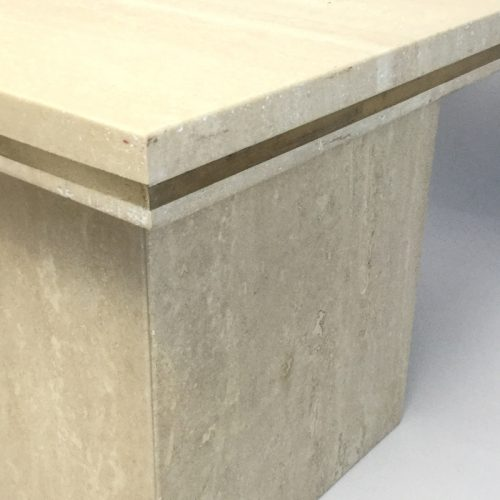 1970s travertine coffee table style willy rizzo (6)
