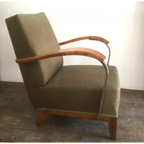 1930s art deco french green armchair (13)