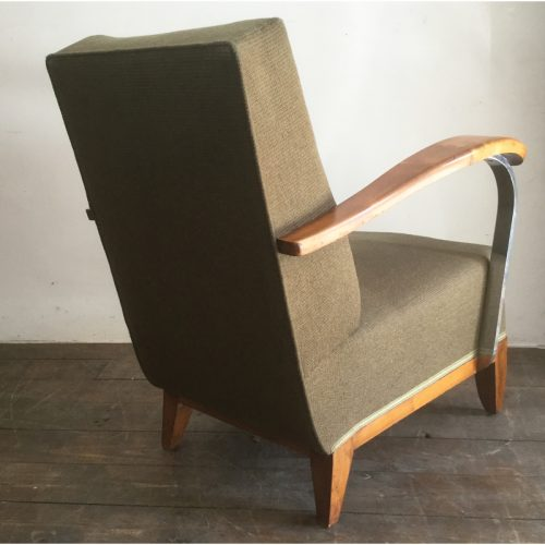 1930s art deco french green armchair (8)
