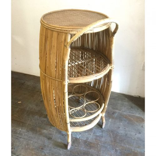 Bamboo liquor cabinet drinking trolley 1950s (16)
