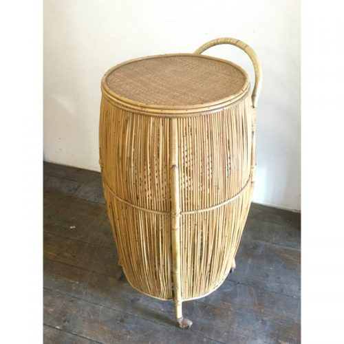 Bamboo liquor cabinet drinking trolley 1950s (17)