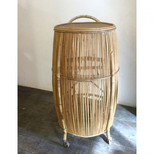 Bamboo liquor cabinet drinking trolley 1950s (22)