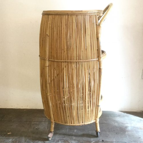 Bamboo liquor cabinet drinking trolley 1950s (30)