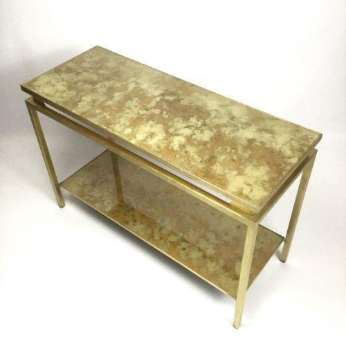 1970s brass brush side table by guy lefevre (16)