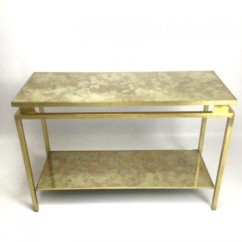 1970s brass brush side table by guy lefevre (20)