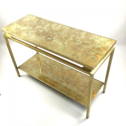 1970s brass brush side table by guy lefevre (5)