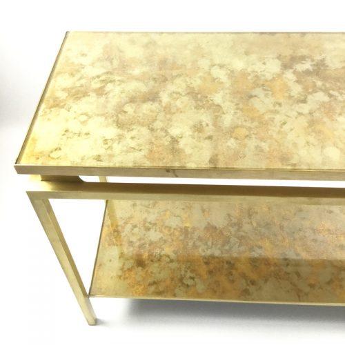 1970s brass brush side table by guy lefevre (6)