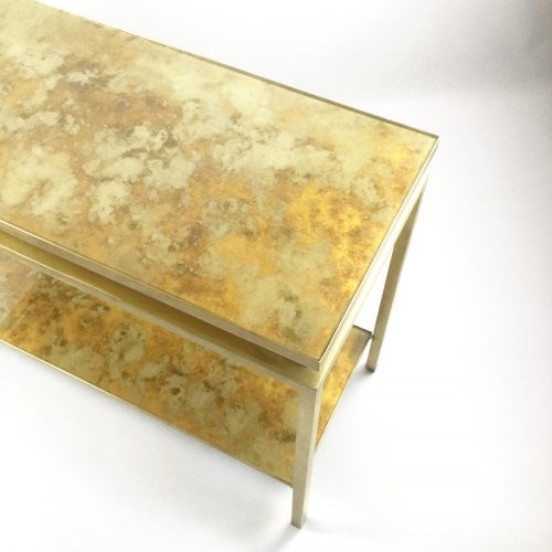 1970s brass brush side table by guy lefevre (9)