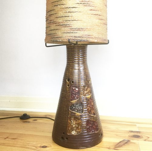 1960s accolay resin pottery ceramic floor lamp (16)