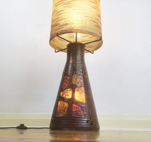 1960s accolay resin pottery ceramic floor lamp (3)