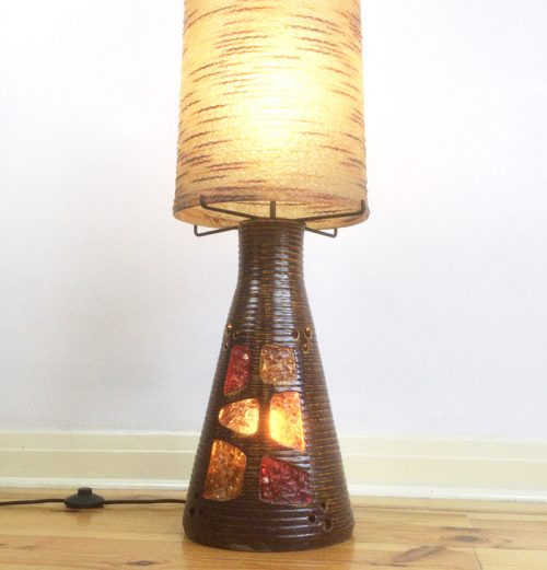1960s accolay resin pottery ceramic floor lamp (7)