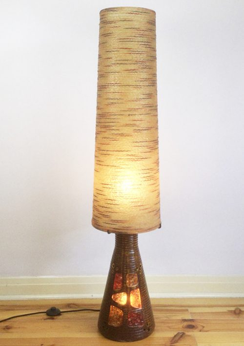 1960s accolay resin pottery ceramic floor lamp (8)