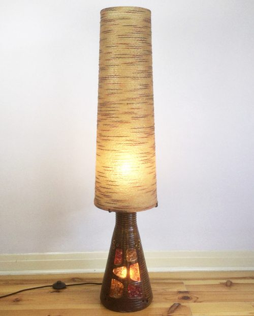 1960s accolay resin pottery ceramic floor lamp (9)
