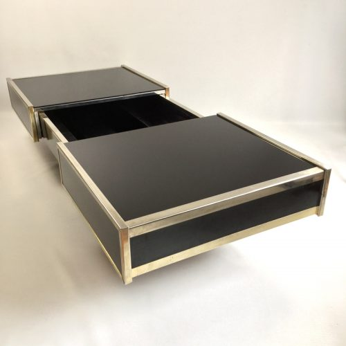maison lancel bar open coffee table willy rizzo style 1970s (27)