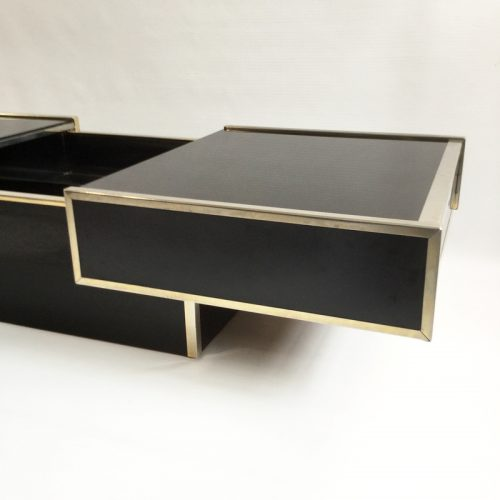 maison lancel bar open coffee table willy rizzo style 1970s (36)