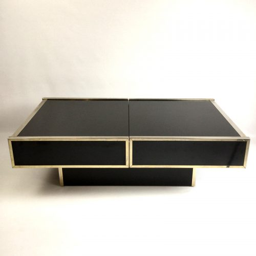 maison lancel bar open coffee table willy rizzo style 1970s (40)