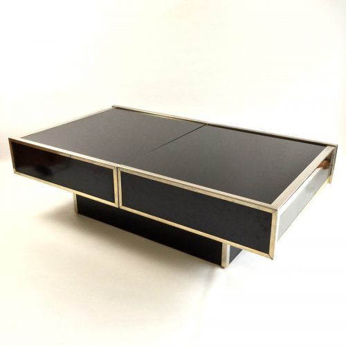 maison lancel bar open coffee table willy rizzo style 1970s (6)