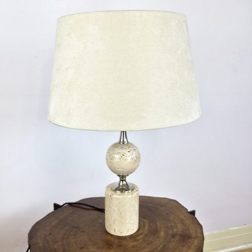 travertine table lamp maison barbier france 1970s (10)