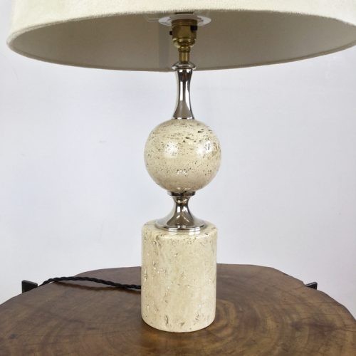 travertine table lamp maison barbier france 1970s (12)