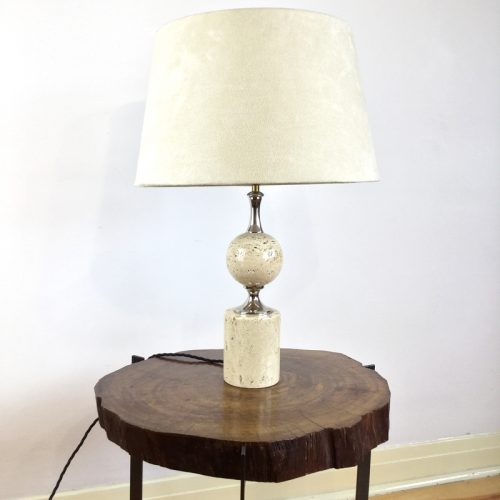 travertine table lamp maison barbier france 1970s (17)